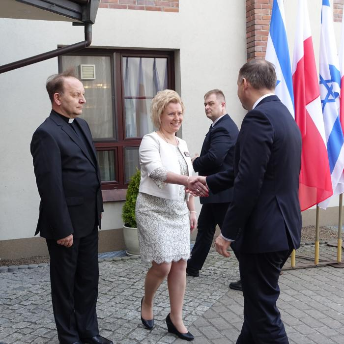 Presidents Andrzej Duda and Reuwen Riwlin met at the Center for Dialogue and Prayer in Oświęcim